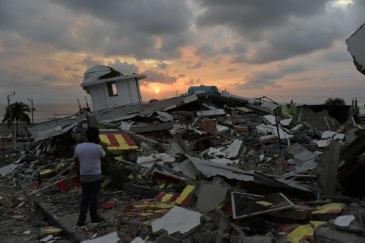 """La localidad de Pedernales, donde fue el epicentro, quedó """"destruida"""" Foto:AFP. Imagen Por:"""