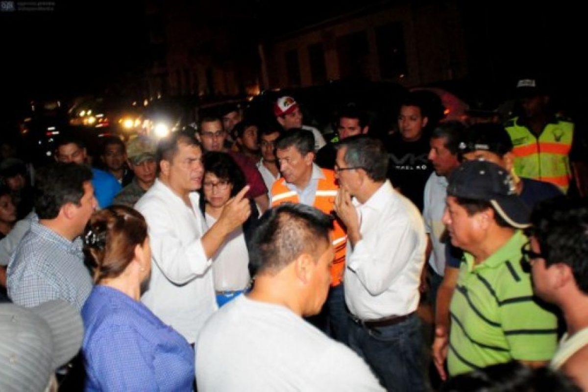 El presidente Rafael Correa ya dio palabras de apoyo a su pueblo. Foto:AFP. Imagen Por: