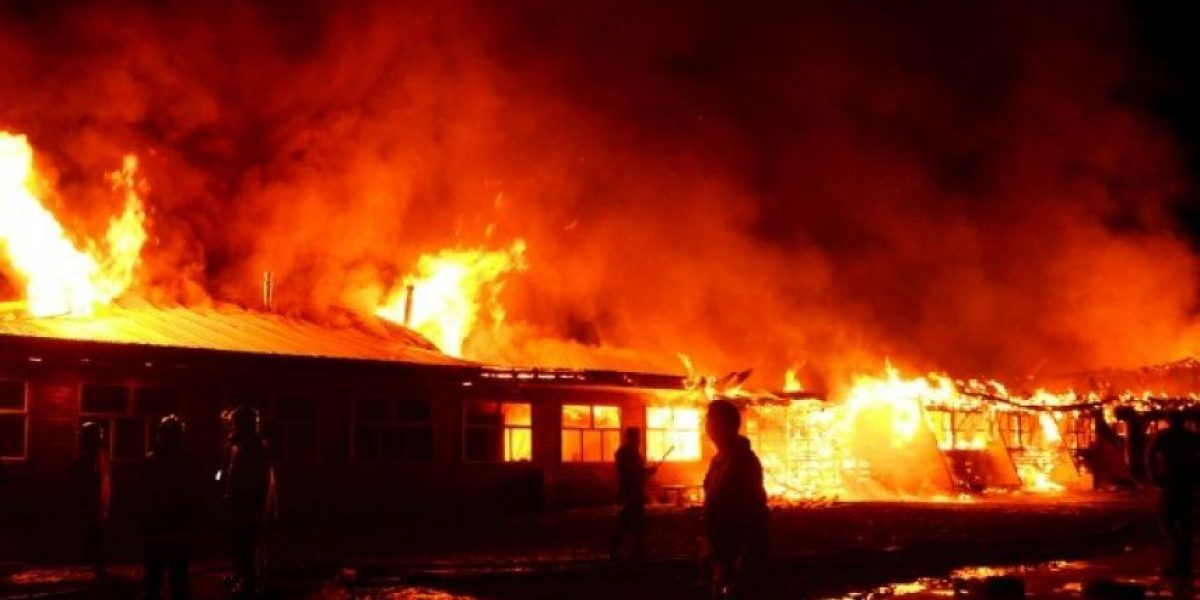 Investigan incendio que afectó a sede universitaria en la provincia de Arauco
