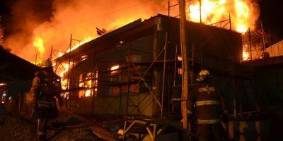 Investigan incendio que destruyó escuela municipal en La Araucanía