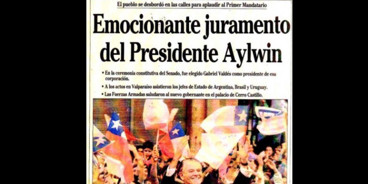 Así informaron los medios el día que Aylwin asumió la presidencia en 1990