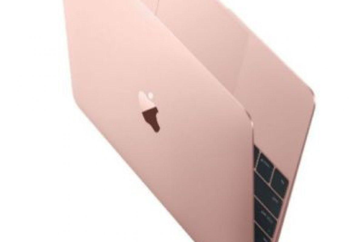 Así se ve la Macbook en tono rosa dorado. Foto:Apple. Imagen Por: