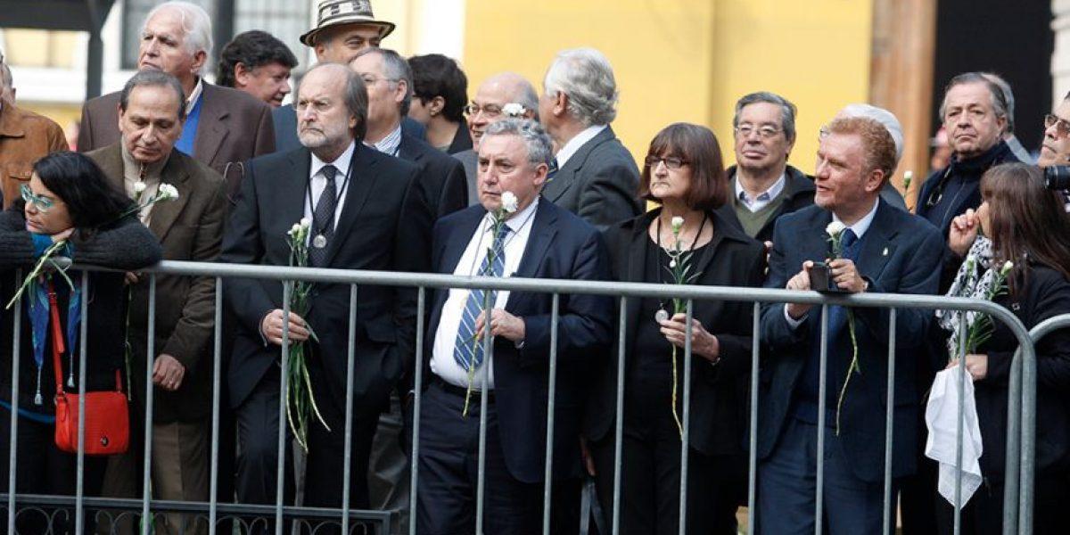 Así fue el adiós de la Universidad de Chile al Presidente Aylwin