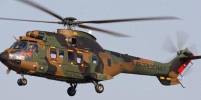 Un muerto deja caída de helicóptero del Ejército en zona cordillerana de Los Andes