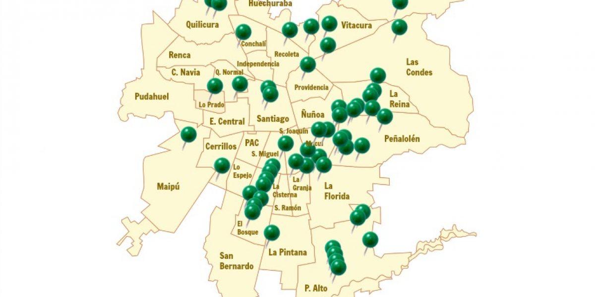 Mapa: mira cuáles son los puntos limpios que existen hoy en Santiago