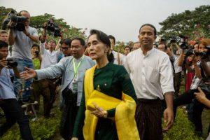 Aung San Suu Kyi. Es una política birmana. En marzo de 2016 asumió los Ministerios de Exteriores, Energía, Educación y la Oficina de la Presidencia. Foto:Getty Images. Imagen Por: