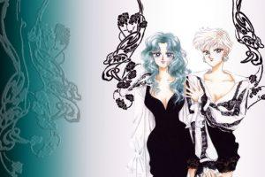 """Haruka nunca representó algo """"masculino"""" como tal en la relación que tiene con Michiru. De hecho, en el artwork de Naoko Takeuchi aparece vestida de mujer y en el manga a veces también. Haruka representa a la mujer moderna japonesa (de ahí su atuendo y peinado) y Michiru es la mujer tradicional y femenina. Por eso siempre están unidas. Foto:Toei. Imagen Por:"""