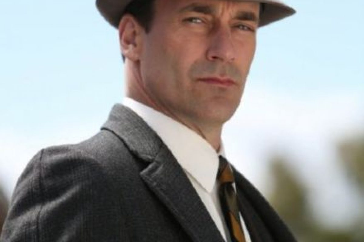 Aunque su personaje, Don Draper (de Mad Men) es un misógino, John Hamm no lo es Foto:vía AMC. Imagen Por: