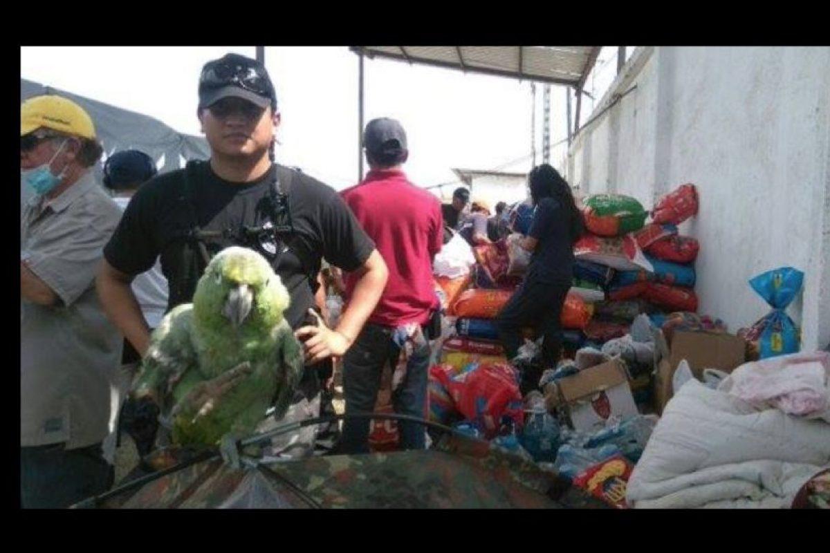 Cada vez que encuentran alguno ven la manera de brindar ayuda sin importar tamaño o raza. Foto:facebook.com/policia.ecuador. Imagen Por: