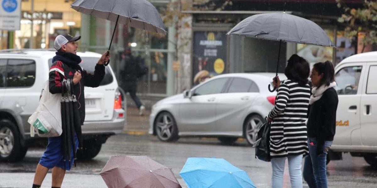 Precipitaciones afectarán a la zona central desde esta tarde