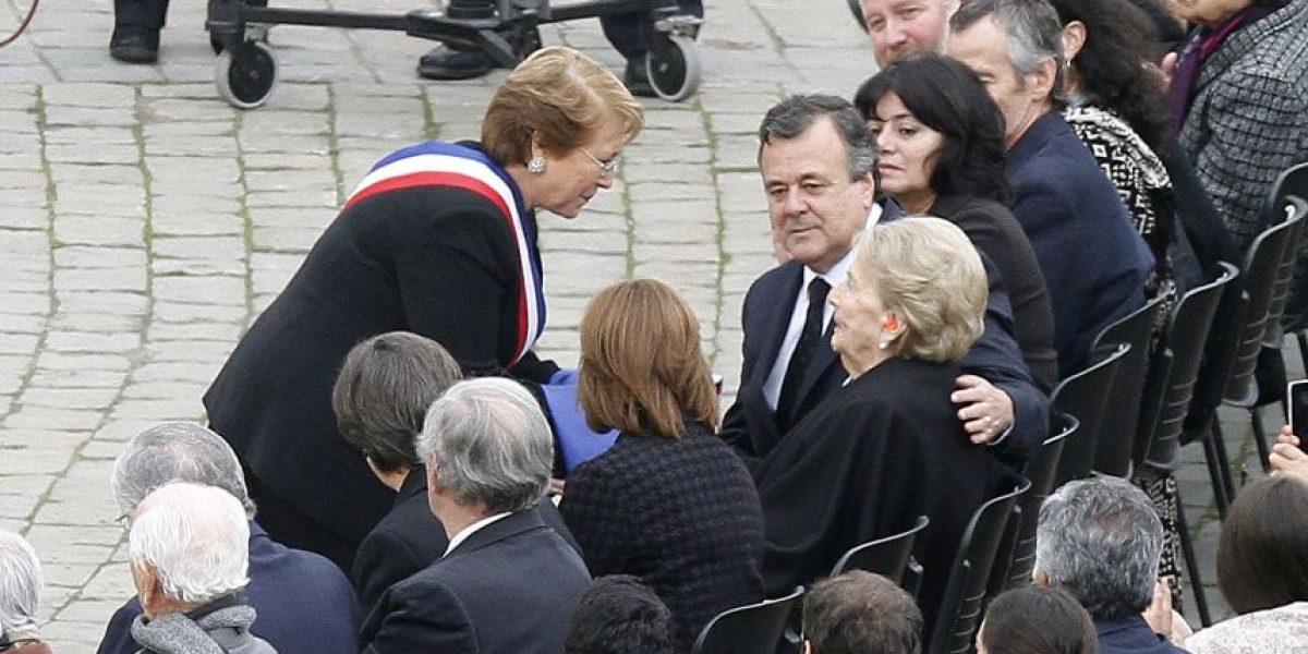 """Bachelet en último homenaje a Patricio Aylwin: """"Hemos perdido a un gran chileno"""