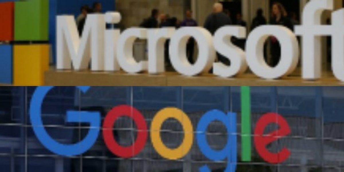 Hacen las paces: Microsoft y Google retiran demandas puestas una a la otra