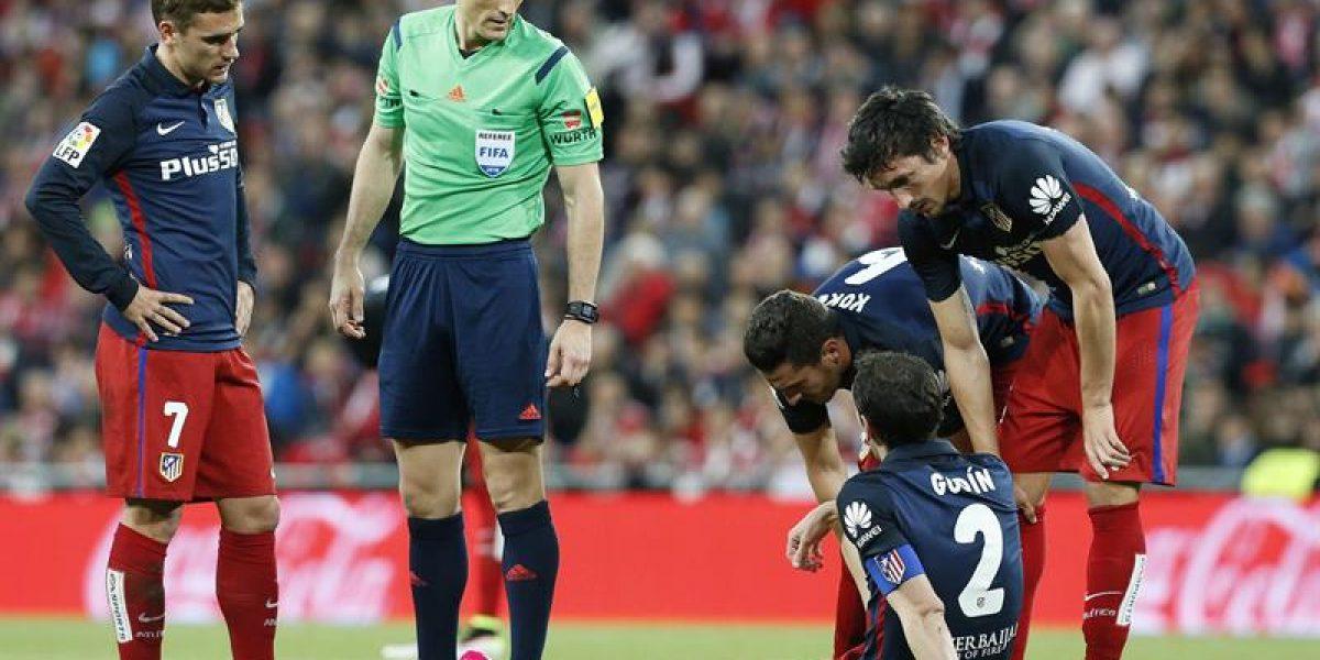 Atlético de Madrid le enciende velas a un Godín que sería baja en la ida ante Bayern