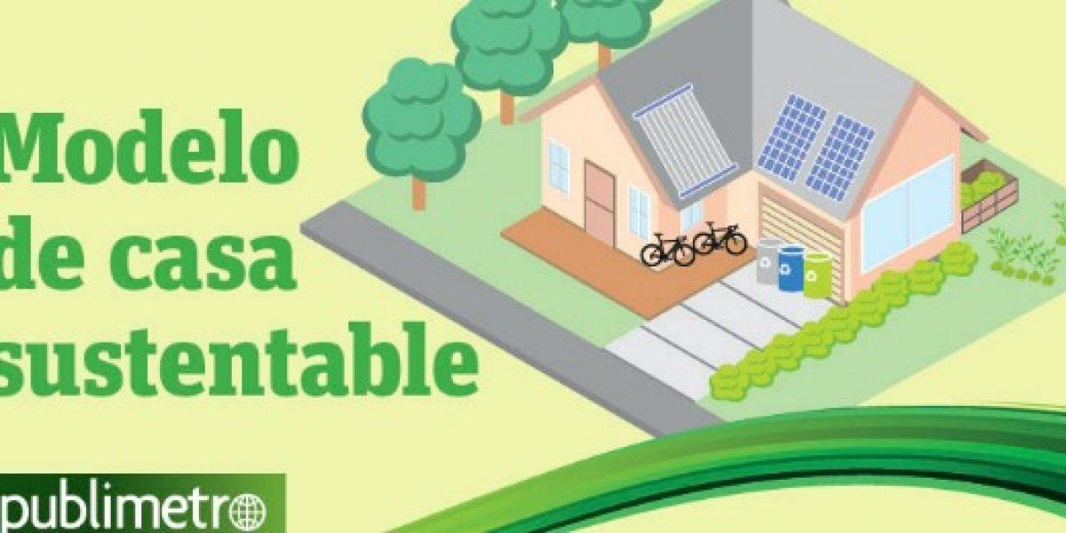 Infografía: este es el modelo de casa sustentable