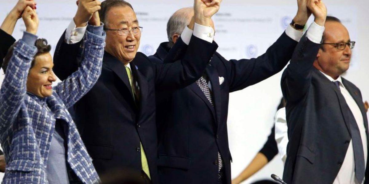 Con Chile ausente 175 países firman histórico acuerdo para combatir el calentamiento global