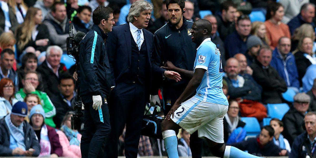 Pellegrini destacó el nivel del City y se mostró preocupado por lesión de Touré