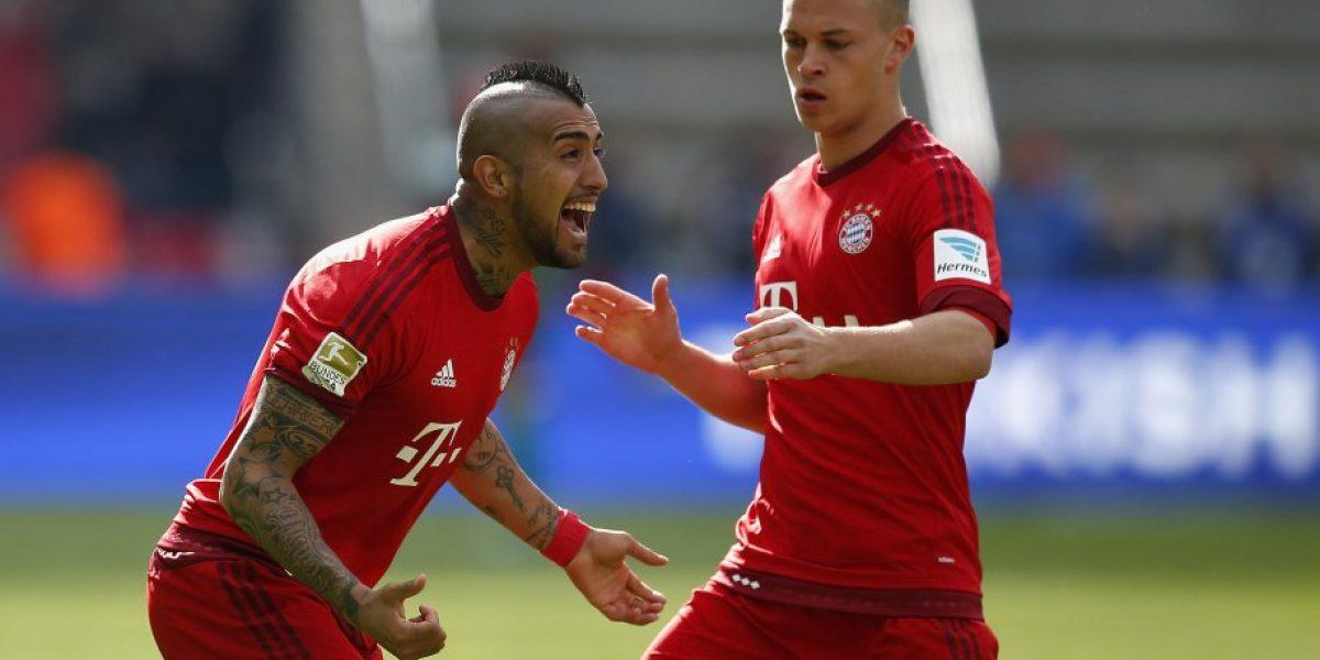 Rey de Munich: Arturo Vidal volvió a anotar y acercó al Bayern a un nuevo título