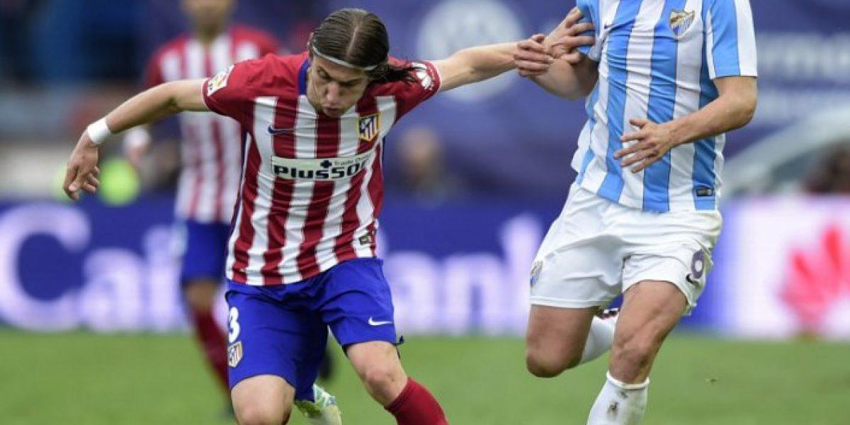 Atlético Madrid logró estrecho triunfo ante Málaga y mantuvo su ilusión del título