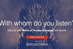 """Estas son algunas de listas que Spotify realizó inspiradas en """"Game of Thrones"""". Foto:Spotify. Imagen Por:"""