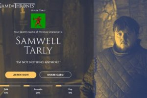 Personaje: Samwell Tarly. Foto:Spotify. Imagen Por: