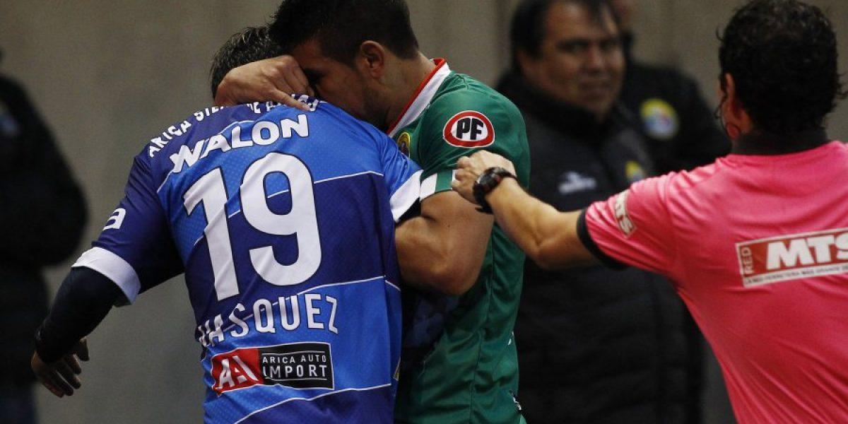 A lo Luis Suárez: La particular agresión del audino Silva en contra del ariqueño Vásquez