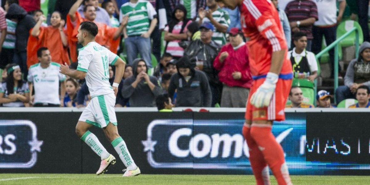 Bryan Rabello fue figura en México al marcar en victoria de Santos Laguna