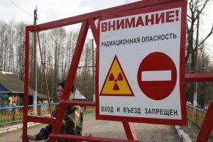 Cartel de peligro ubicado cerca de la ciudad de Chenóbil, al norte de Ucrania, que alerta sobre la radiación, Foto:Efe. Imagen Por: