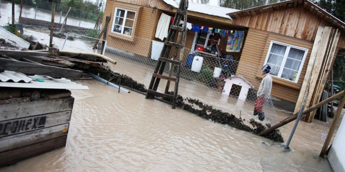 Un desaparecido y 103 damnificados dejó el temporal que afectó a la zona centro-sur