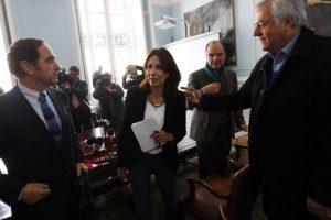 Presidentes de partidos Chile Vamos Foto:Agencia Uno. Imagen Por: