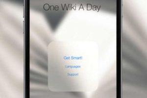 3.- One Wiki a Day Foto:App Store. Imagen Por:
