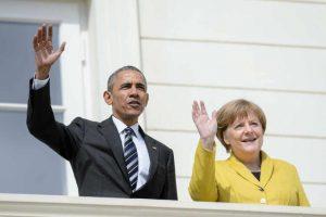 """Obama y Angela Merkel visitaron la """"Hannover Messe"""", considerada como la mayor feria tecnológica industrial. Foto:Getty Images. Imagen Por:"""
