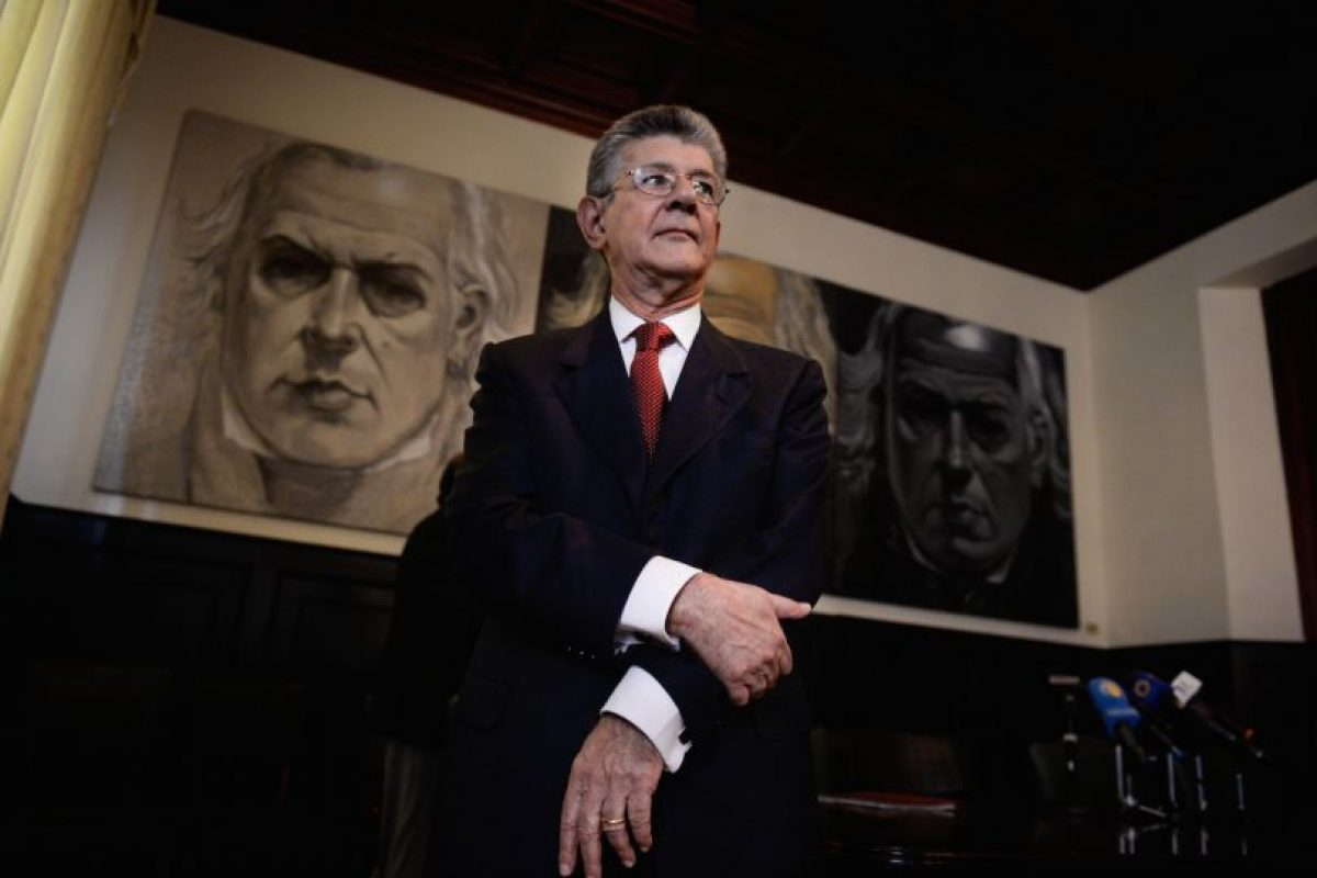 Henry Ramos Allup, presidente de la Asamblea Nacional, el parlamento unicameral de Venezuela. Foto:AFP. Imagen Por: