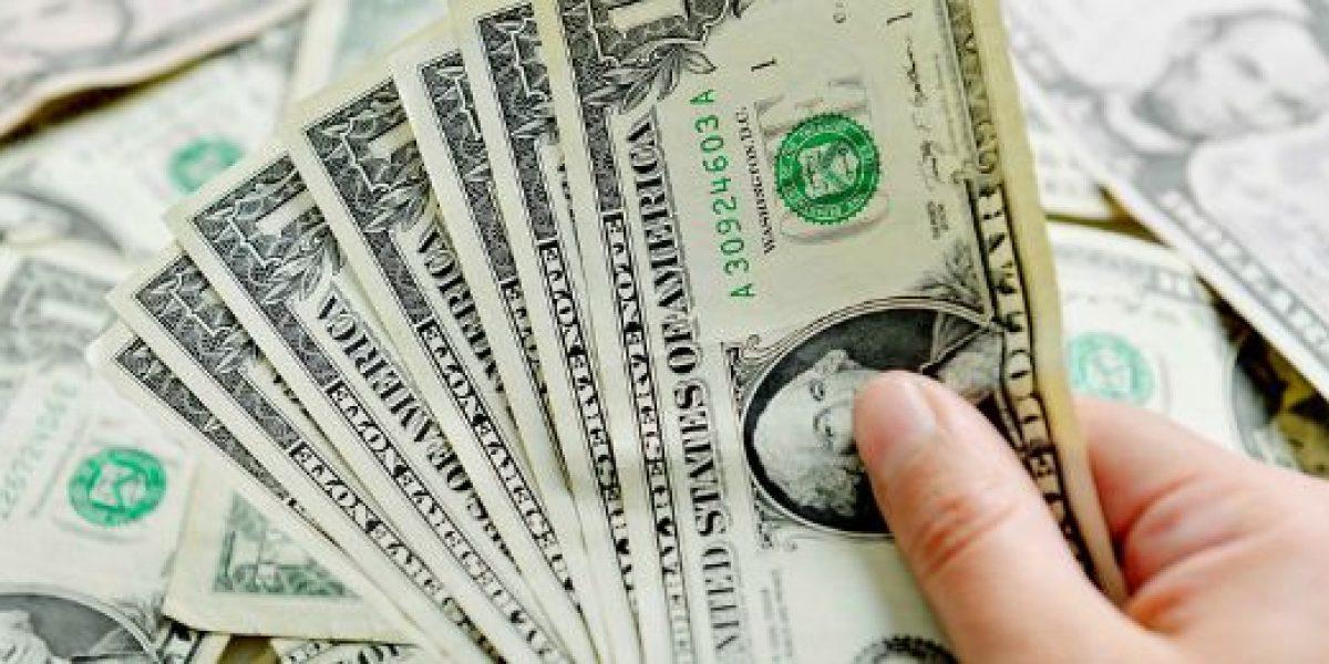 Dólar vuelve a caer de los $670