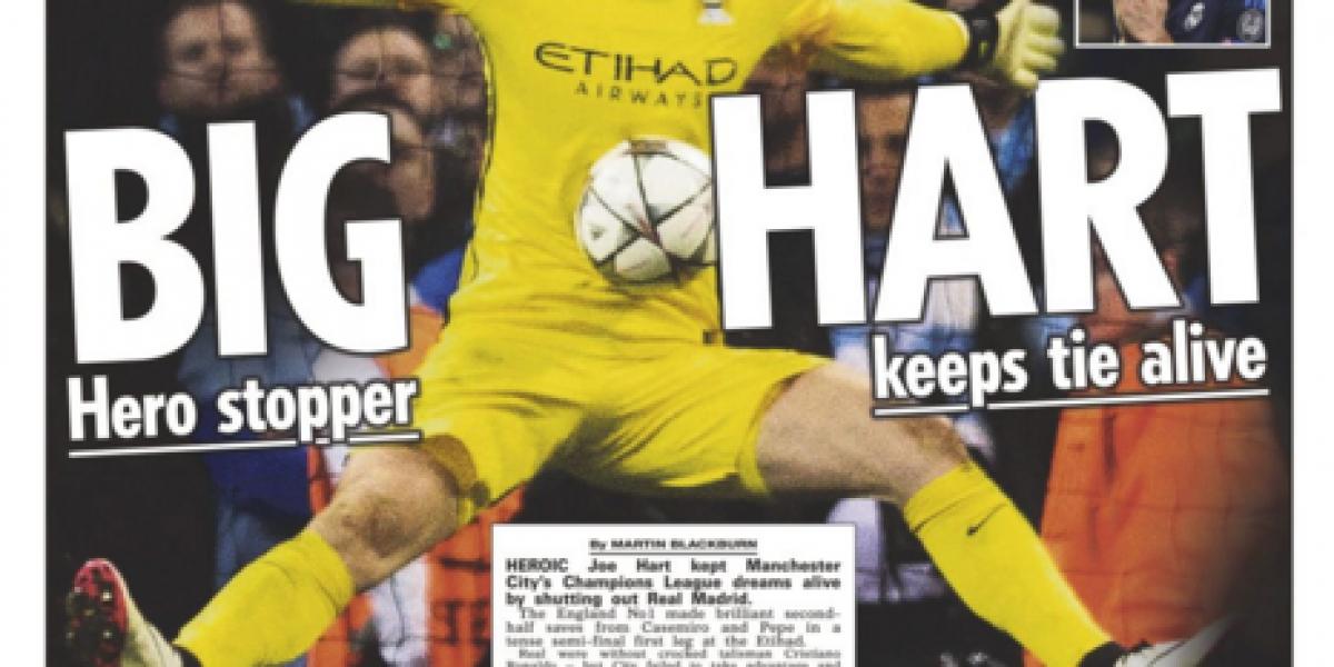 Fue el salvador: La espectacular atajada de Hart se ganó las portadas de Inglaterra
