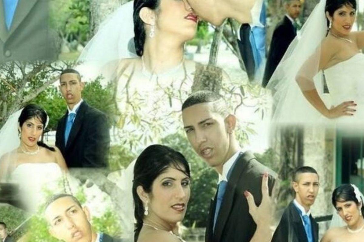 """Y más sorprendentes fueron sus imágenes de matrimonio con """"La Kuki"""". Foto:vía Youtube. Imagen Por:"""