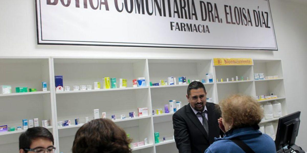 Inauguran la primera farmacia popular de la comuna de Santiago