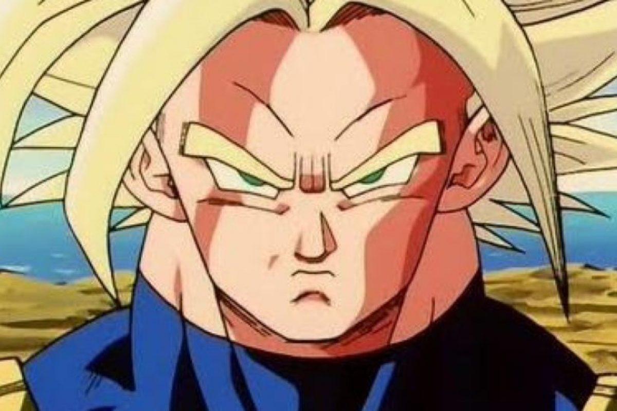 """Trunks, hijo de Bulma y Vegeta. Su versión del futuro viene a advertirle a Gokú y sus amigos lo que pasará con los androides. Su versión """"actual"""" es más floja y más mimada. Foto:Toei. Imagen Por:"""