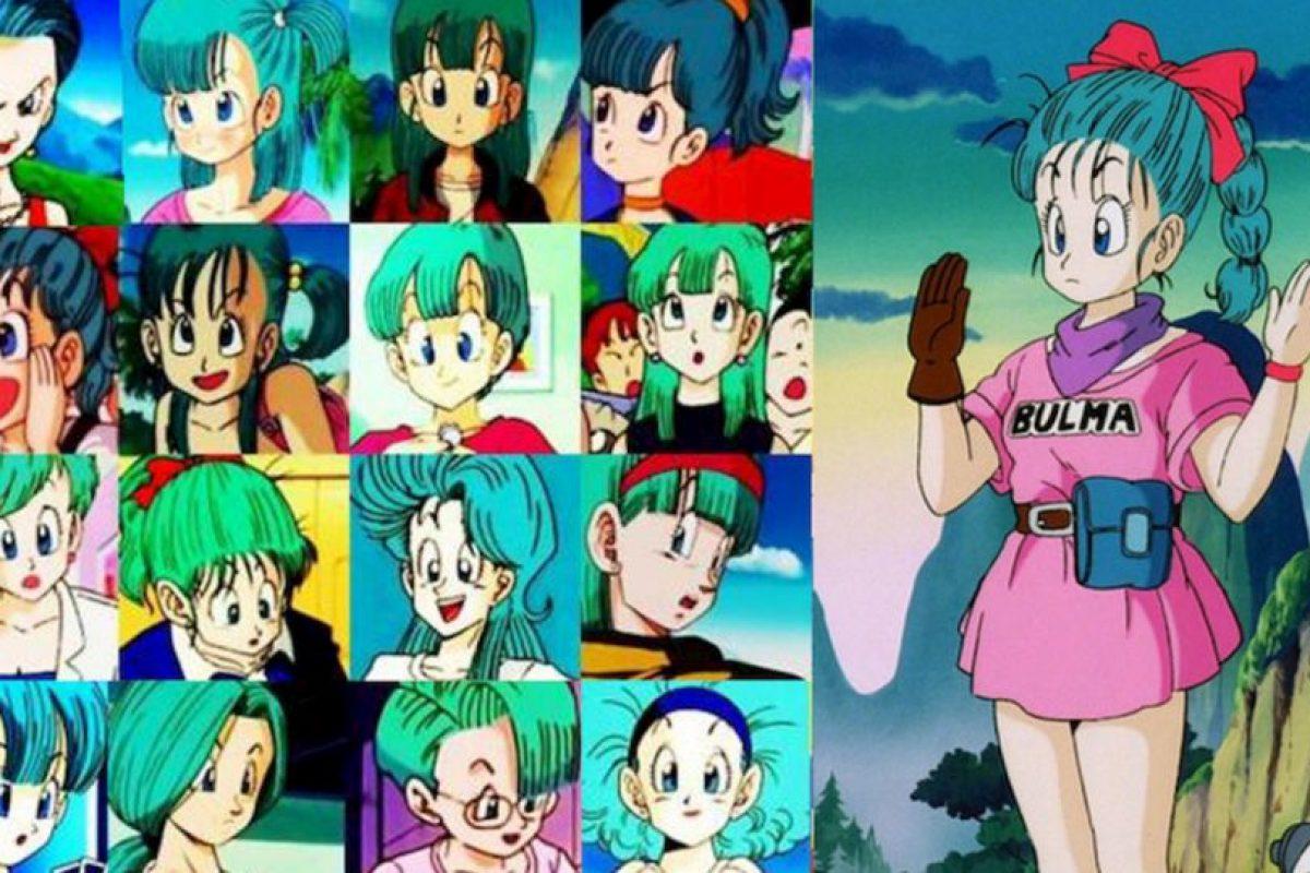 Bulma cambia 17 veces de peinado a lo largo de la serie. Foto:Toei. Imagen Por: