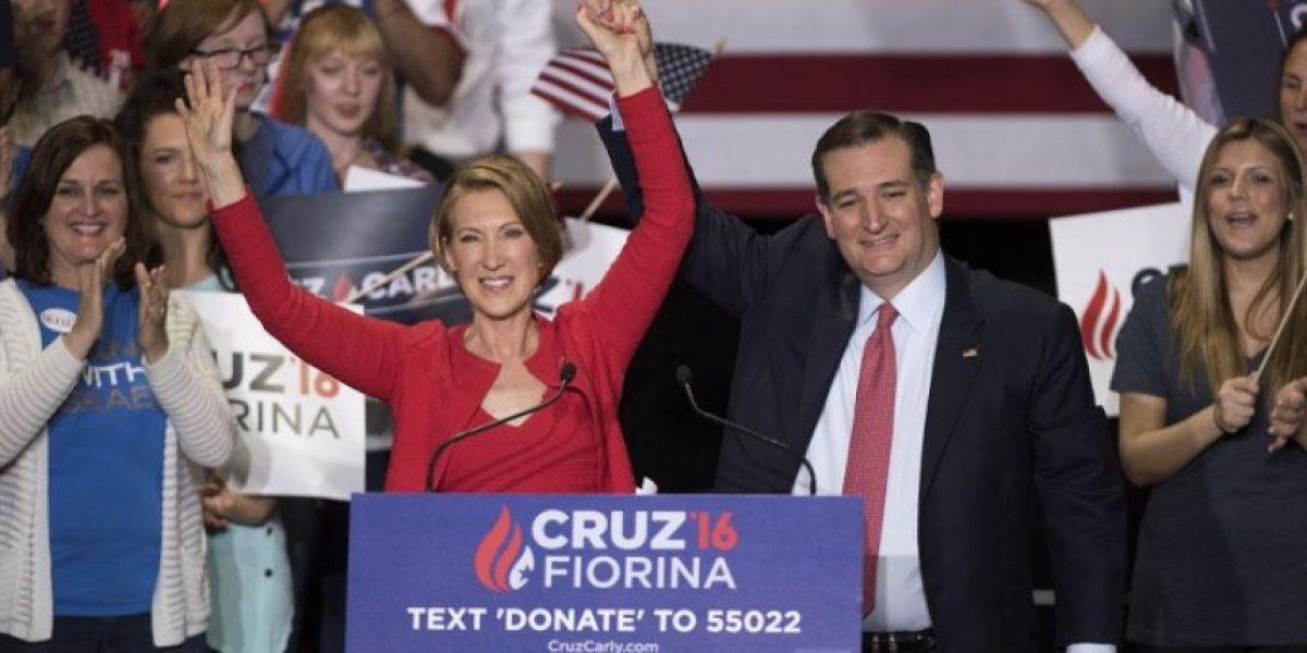 Ted Cruz elige a Carly Fiorina como compañera de ruta para detener a Trump