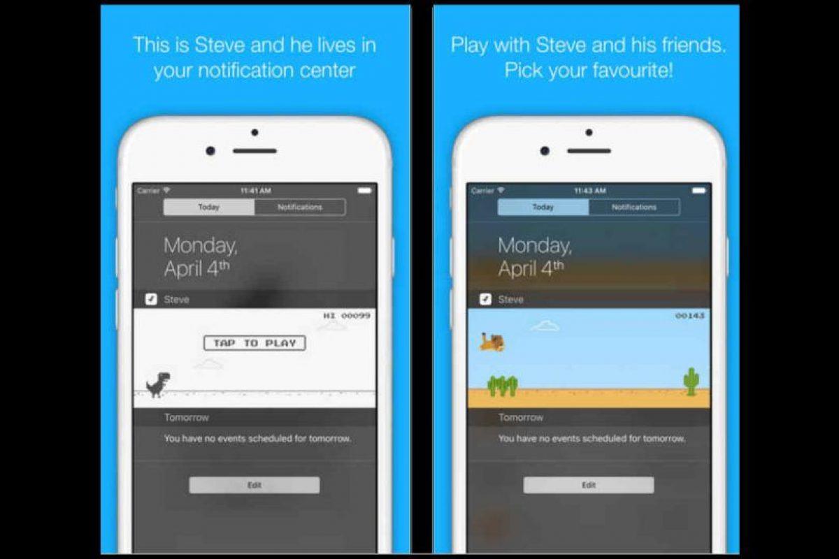 """Steve: The Jumping Dinosaur"" nos recuerda al juego de Google Chrome. Foto:App Store. Imagen Por:"