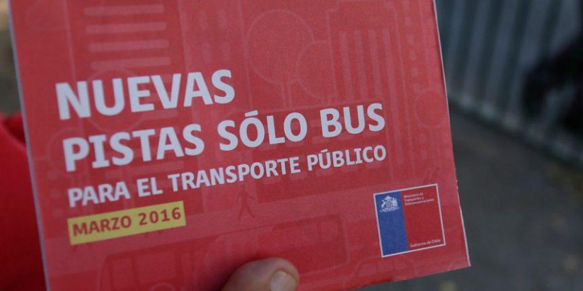 600 multados por circular por nuevas Pistas Sólo Bus en una semana
