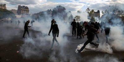 Disturbios en Francia durante las manifestaciones contra la reforma laboral de Hollande