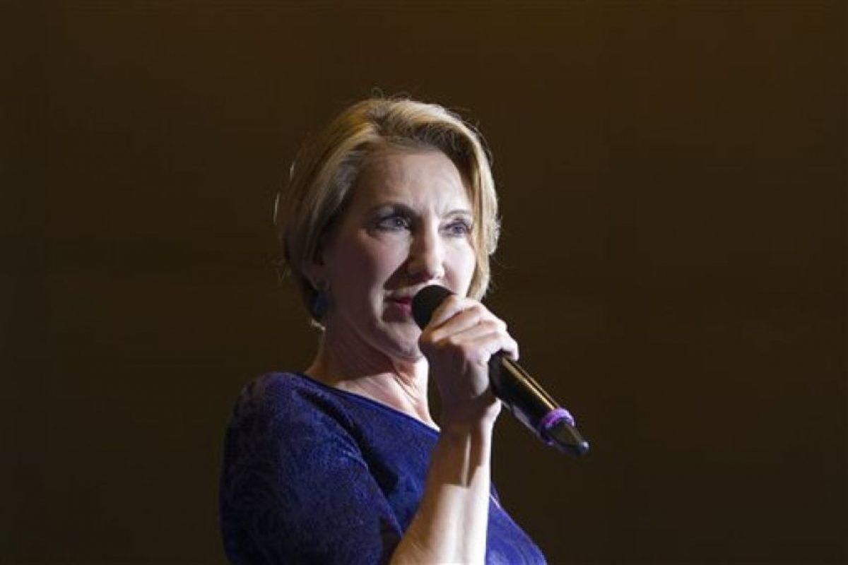 El miércoles por la tarde -tiempo local- Cruz anunció que Carly Fiorina, como su candidata a la vicepresidencia Foto:AP. Imagen Por: