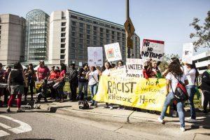 Imágenes de las protestas en contra de Donald Trump Foto:Getty Images. Imagen Por: