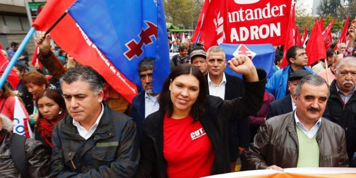 Presidenta de la CUT convoca a paro nacional y pide al gobierno impulsar cambio constitucional