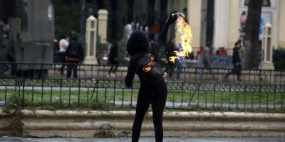 Anuncian querella contra menores detenidos por lanzar molotov en marcha del 1 de mayo