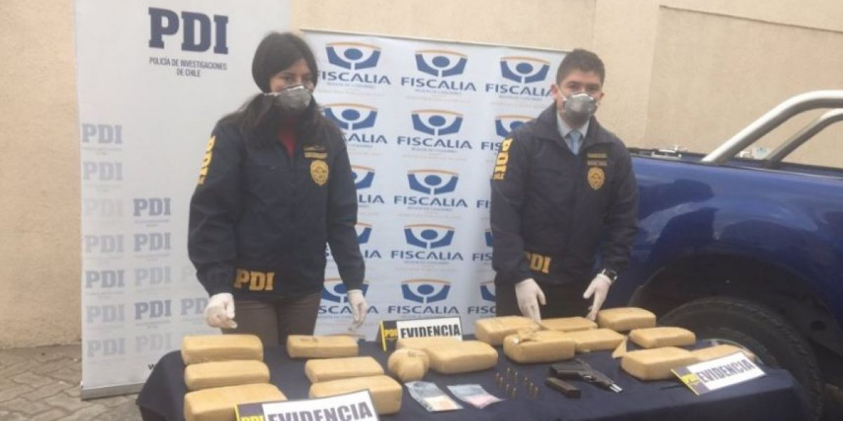 Coquimbo: operativo PDI permitió decomisar droga avaluada en $200 millones