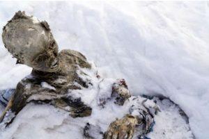 En junio de 2015 se encontraron tres cuerpos momificados en el Pico de Orizaba, la montaña más alta de México Foto:AFP. Imagen Por: