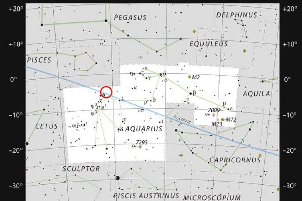 La estrella enana ultrafría TRAPPIST-1 en la constelación de Acuario Foto:ESO. Imagen Por: