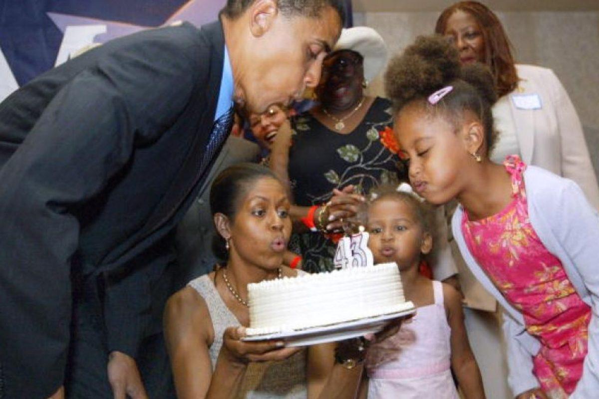 Sus primeras apariciones públicas fueron en 2004, cuando su Barack hacía campaña al senado Foto:Getty Images. Imagen Por: